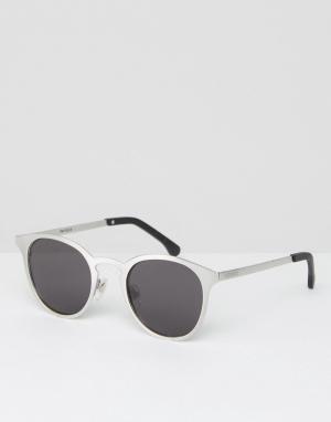 Komono Круглые серебристые солнцезащитные очки Hollis. Цвет: серебряный