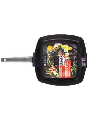 Сковорода-гриль с базовым покрытием Ilag 26*26 см AMBITION. Цвет: черный