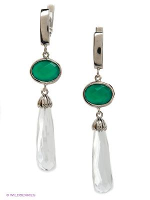 Серьги BALEX. Цвет: зеленый, прозрачный
