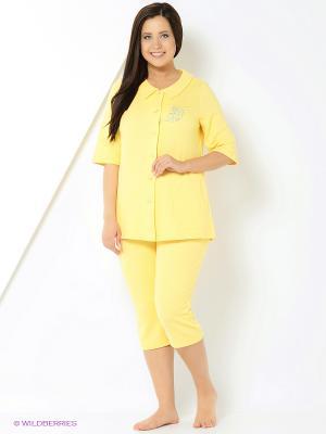 Домашний костюм Forus. Цвет: желтый