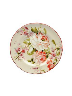 Тарелка десертная, d.22 см, Эмма Elff Ceramics. Цвет: бежевый,розовый