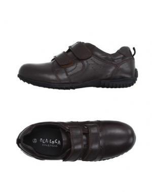 Низкие кеды и кроссовки OCA-LOCA. Цвет: темно-коричневый