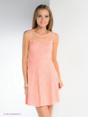 Платье TOPSANDTOPS. Цвет: светло-коралловый