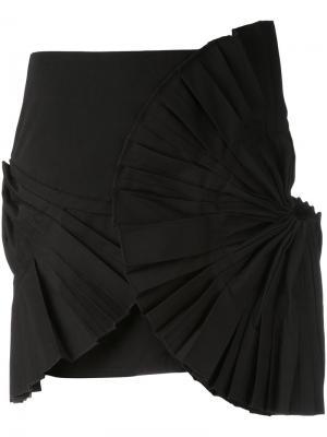 Плиссированная мини-юбка Jacquemus. Цвет: чёрный