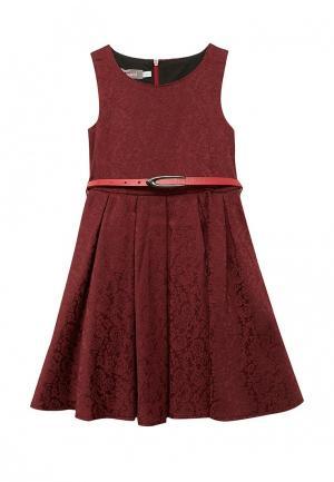 Платье Shened. Цвет: бордовый
