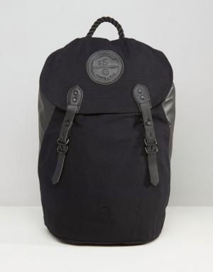 Stighlorgan Парусиновый рюкзак с кожаной отделкой Ryan. Цвет: черный