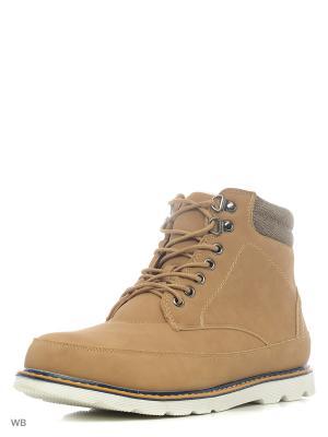 Ботинки Oodji. Цвет: желтый, коричневый
