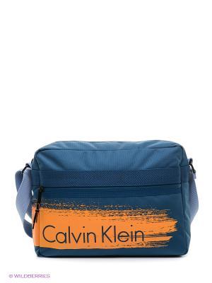 Сумка Calvin Klein. Цвет: синий