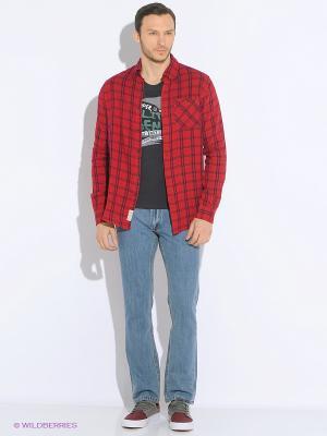 Рубашка LEE COOPER. Цвет: темно-красный, красный