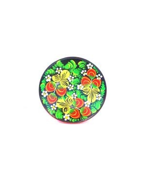 Тарелка - Ягоды на черном Taowa. Цвет: бирюзовый