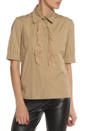 Блуза Givenchy. Цвет: бежевый