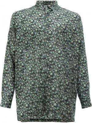Рубашка с цветочным принтом 08Sircus. Цвет: синий