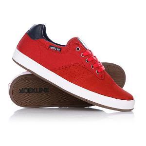 Кеды кроссовки низкие  Dalton Red Barn/Navy Dekline. Цвет: красный