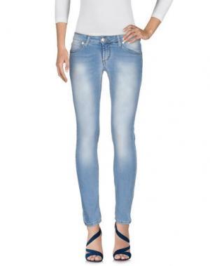 Джинсовые брюки ANNARITA N.. Цвет: синий