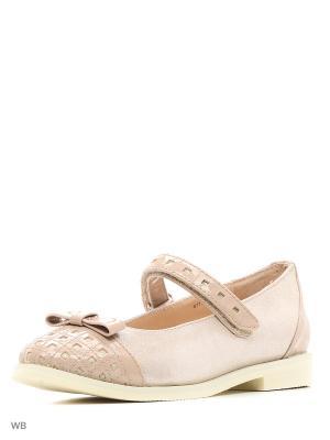 Туфли для девочки ОРТОМОДА. Цвет: бежевый
