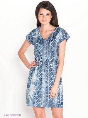 Платье Remix. Цвет: синий, белый