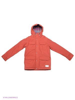 Куртка Quiksilver. Цвет: оранжевый