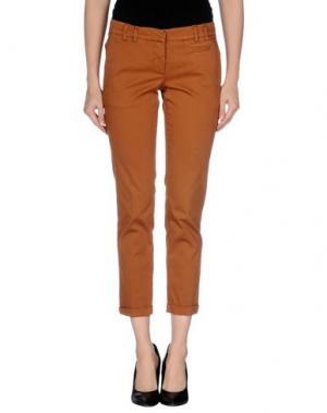 Повседневные брюки GOLD CASE SOGNO. Цвет: коричневый