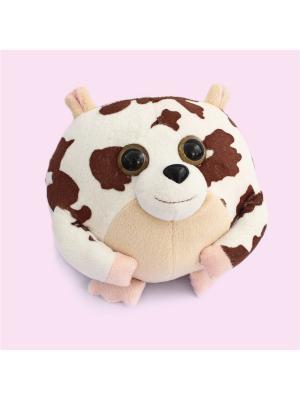 Мягкая игрушка шарик Хомяк, Malvina. Цвет: белый, коричневый