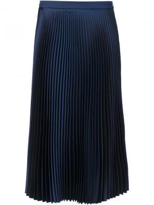 Плиссированная юбка Suno. Цвет: синий