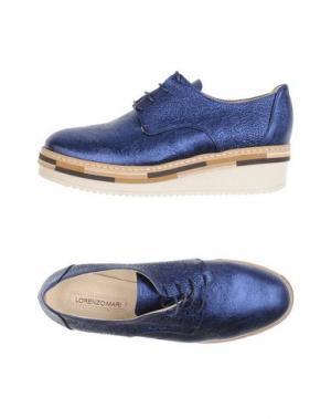 Обувь на шнурках LORENZO MARI. Цвет: ярко-синий
