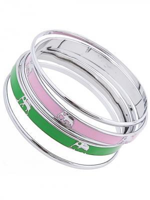 Браслет City Flash. Цвет: серебристый, зеленый, розовый