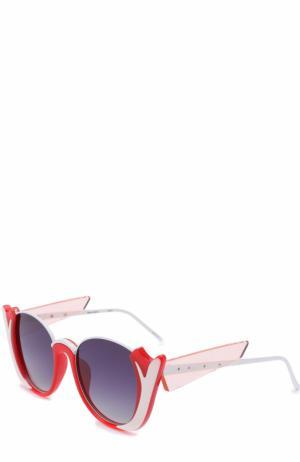 Солнцезащитные очки Prabal Gurung. Цвет: красный