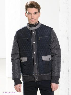 Куртка Primo Emporio. Цвет: темно-серый, темно-синий