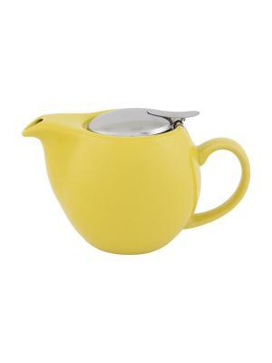 Чайник Желтый Elan Gallery. Цвет: желтый