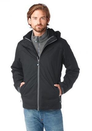 Функциональная куртка «3 в 1», Polarino. Цвет: чёрный