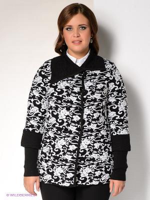 Кардиган Milana Style. Цвет: черный, белый