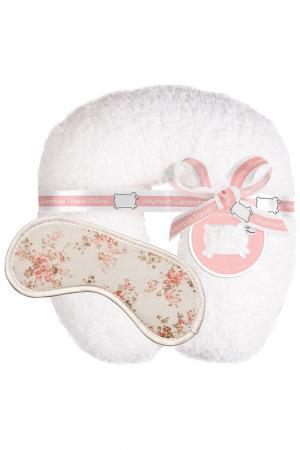 Набор дорожный подушка + маска Daydream. Цвет: белый