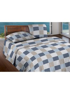 Комплект постельного белья 2,0 бязь Style Wenge. Цвет: серо-голубой, серый