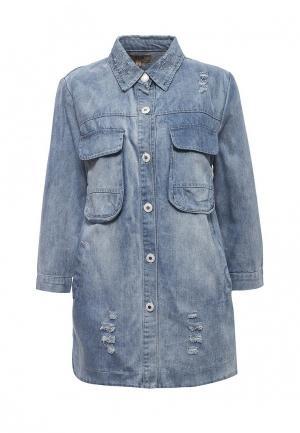 Куртка джинсовая QED London. Цвет: голубой