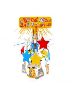 Украшение стола на День Рождения А М Дизайн. Цвет: красный, желтый