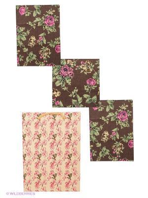 Набор кухонный ARLONI. Цвет: коричневый, розовый, зеленый