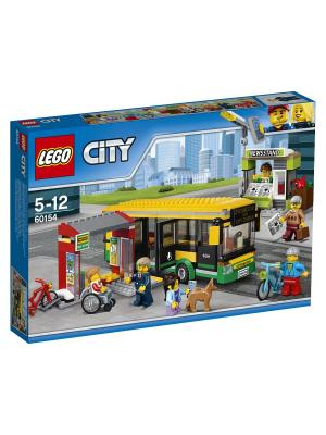 City Town Автобусная остановка 60154 LEGO. Цвет: синий