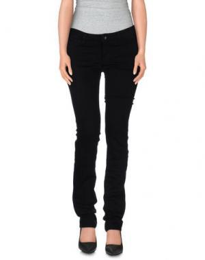 Джинсовые брюки GUESS. Цвет: черный