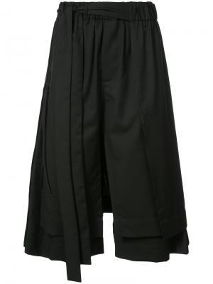 Укороченные широкие брюки Craig Green. Цвет: чёрный