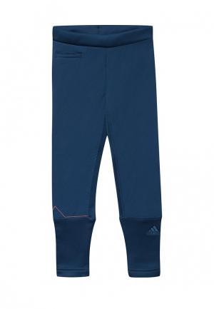 Брюки спортивные adidas. Цвет: синий