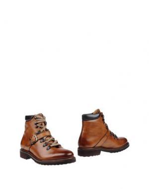 Полусапоги и высокие ботинки CORDWAINER. Цвет: желто-коричневый