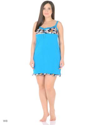 Ночная сорочка HomeLike. Цвет: голубой