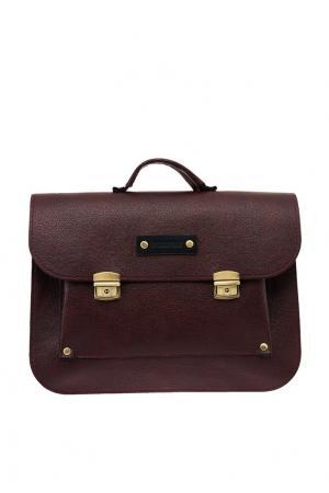 Бордовый портфель Soul. Цвет: коричневый