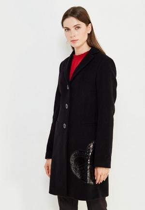 Пальто Love Moschino. Цвет: черный