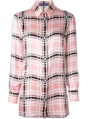 Рубашка в клетку Emanuel Ungaro. Цвет: розовый и фиолетовый