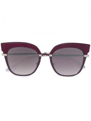 Солнцезащитные очки Rosy Jimmy Choo Eyewear. Цвет: розовый и фиолетовый