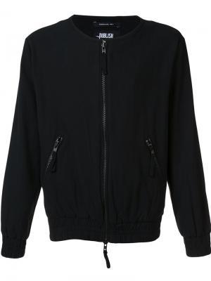 Куртка-бомбер без воротника Publish. Цвет: чёрный