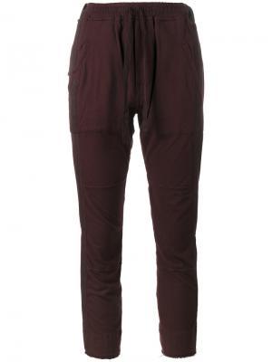 Укороченные спортивные брюки со вставками Haider Ackermann. Цвет: розовый и фиолетовый