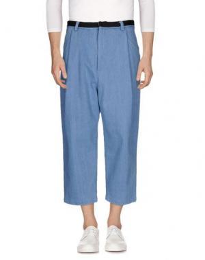 Джинсовые брюки-капри GENERAL IDEA. Цвет: синий
