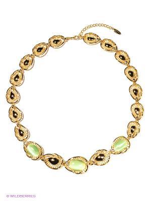 Колье Bijoux Land. Цвет: золотистый, зеленый